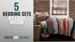 Top 10 Lush Decor Bedding Sets [2018]: Lush Decor Boho Stripe 3-Piece Quilt Set, King,