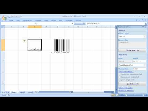 Barcode Add-In for Microsoft Excel (All Versions) - YouTube