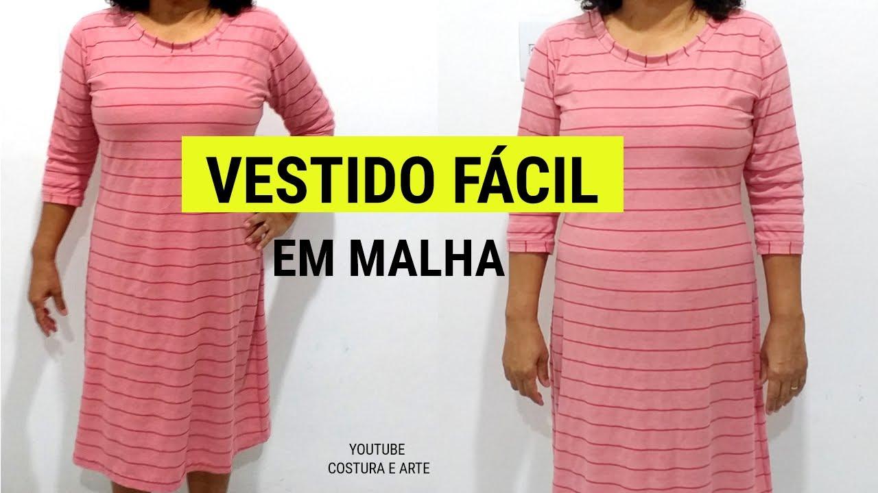 VESTIDO DE MALHA | COSTURA E ARTE