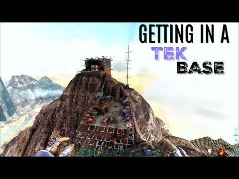 FOUR GUYS WITH A Tent Vs Tek Base - Official (E37) - ARK Sur
