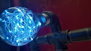DIY Robot Lamp Fast Build | Awesome Robot LED Lamp