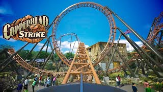 Copperhead Strike Roller Coaster Carowinds New for 2019 POV & Offride Animation