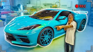 FIRST EVER OUTRAGEOUSLY PAINTED C8 CORVETTE *SIMPLY AMAZING*