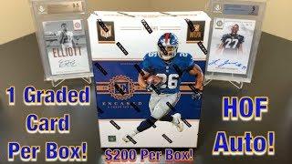 2018 Panini Encased Football Hobby Box Break - $200 Per Box w/ 5 Cards! HOF Auto!