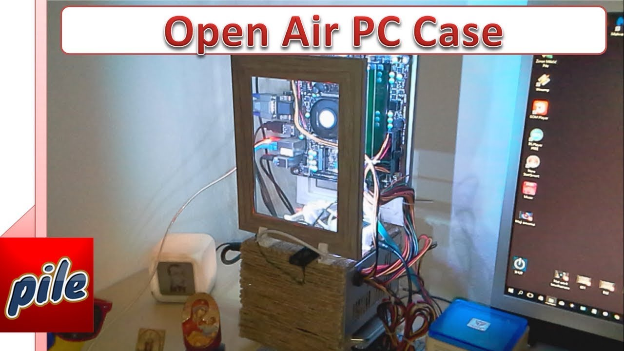 how to make open air pc case diy youtube