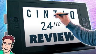Wacom CINTIQ 24HD Review - Drawing Tablet with a SCREEN