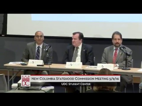 New Columbia Statehood Briefing for Advisory Neighborhood Commissioners, 5/9/16