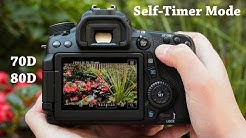 How to Set Self-Timer Mode on Canon 70D, 80D, 60D or 50D DSLR