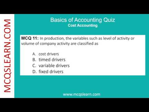 Basics Of Accounting Quiz - MCQsLearn Free Videos