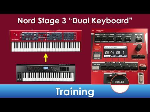 Nord Stage 3 Dual Keyboard Mode (Dual KB) Training/Tutorial