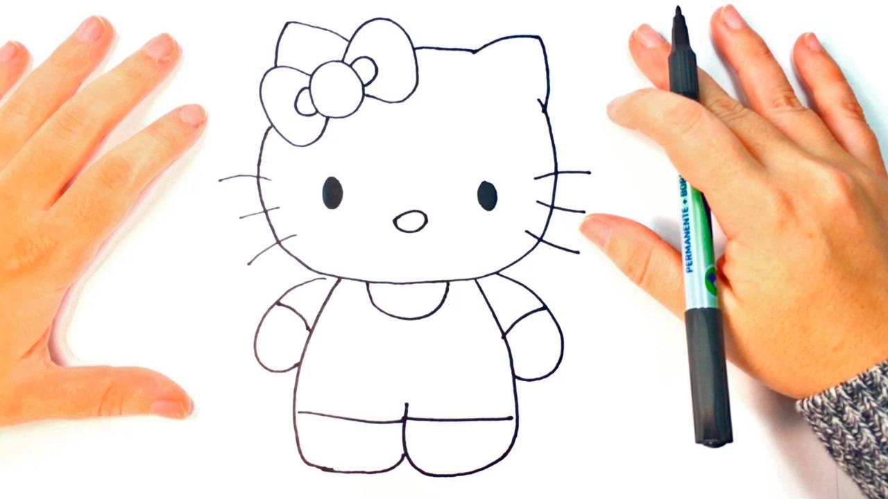 Cómo Dibujar A Hello Kitty Paso A Paso Dibujo Fácil De Hello Kitty