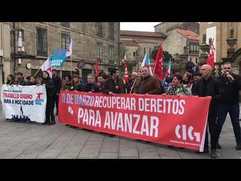 Concentración en Pontevedra por el Día da Clase Obreira Galega