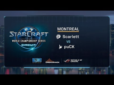 Scarlett vs puCK ZvP - Group G Stage 3 - WCS Montreal 2017 - StarCraft II