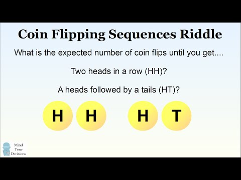 SURPRISING Coin Flipping Probability - Flips To HH Versus HT