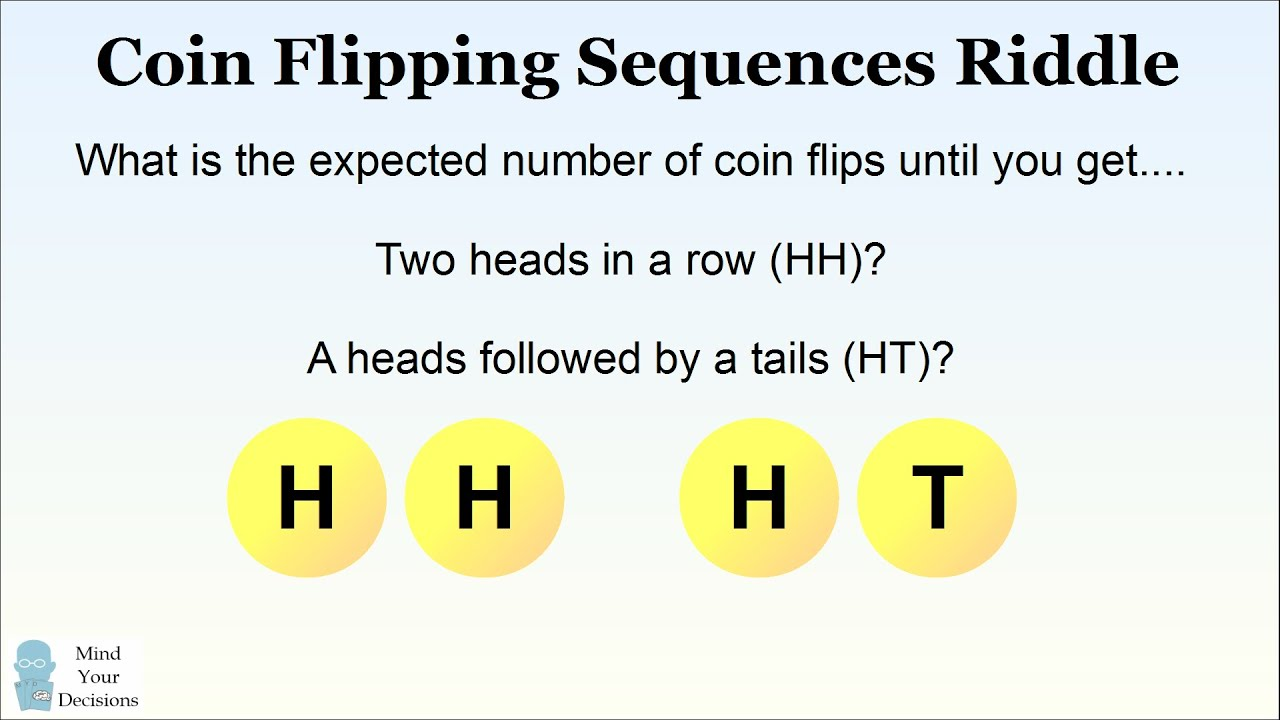 the coin flipping sequences riddle sunday puzzle [ 1280 x 720 Pixel ]