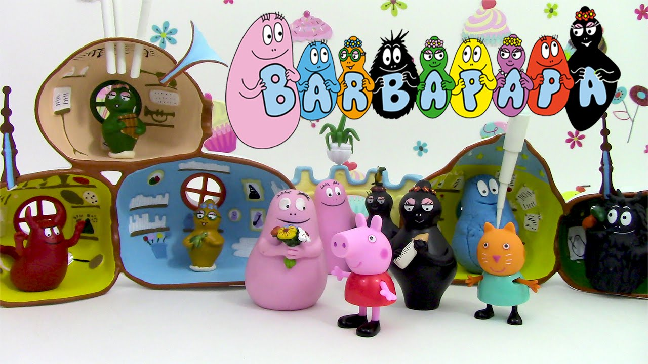 la maison des barbapapa jouet p te modeler en fran ais. Black Bedroom Furniture Sets. Home Design Ideas
