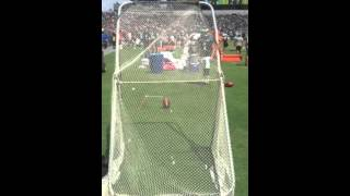 Cody Parkey breaks kicking net
