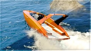 GTA 5 Funny Moments - Intense Boat Race - (GTA V Online Games Stunts)