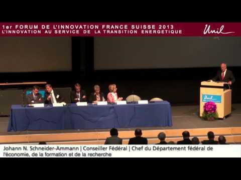 FIFS 2013 : Partie officielle - Présentation de M. Schneider-Ammann