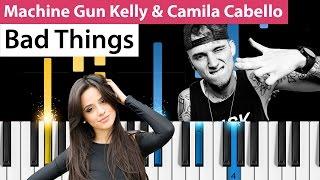 machine gun kelly camila cabello bad things piano tutorial how to play bad things on piano