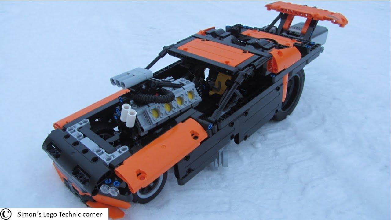 lego technic 42050 drag racer motorized wheelies youtube rh youtube com