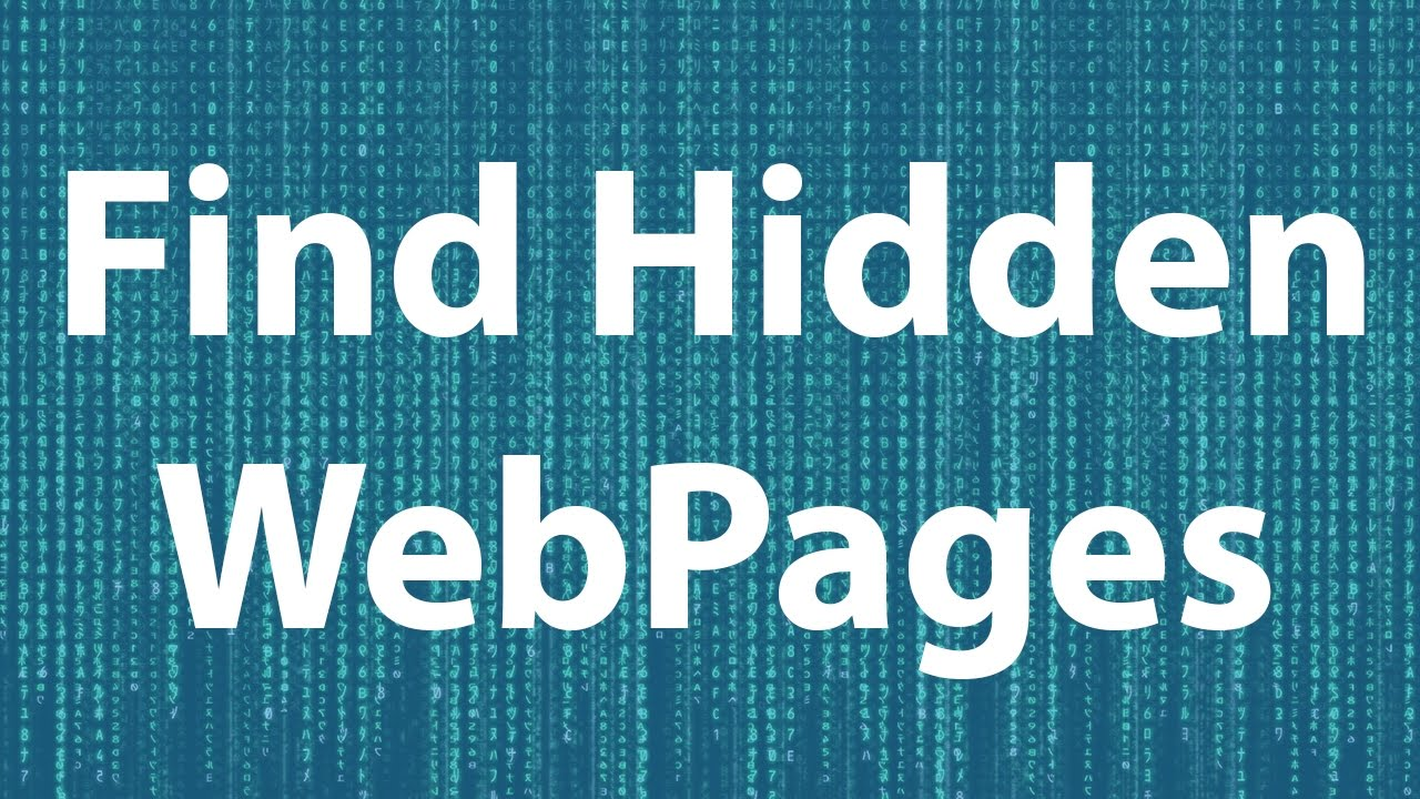 Find Hidden WebPages With Dirbuster