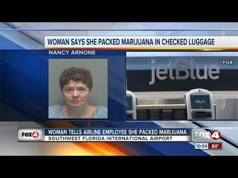 Woman tells airport employee she has marijuana in her checked bag