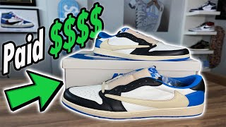I CANNT BELEIVE I SPENT THIS MUCH $$$ ON Fragment Travis Scott Jordan 1 Lows! Full Review & Outfits