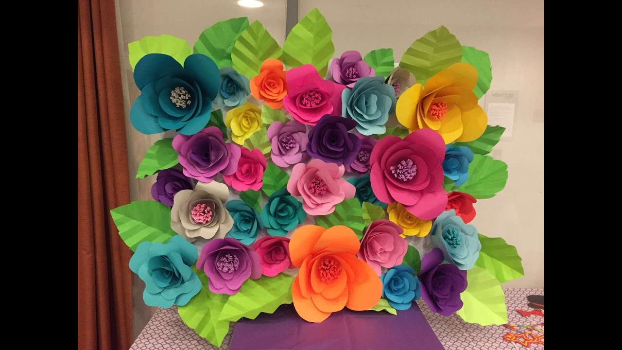 Diy paper flower backdrop part 12 youtube mightylinksfo