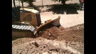 Cutting a hill using a Bulldozer with Michael Challacomb