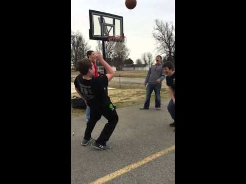 Kid gets hit with basketball! Piggott High School