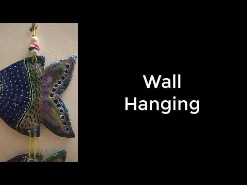 Handmade Fish Wall Hanging | Wall Hanging Of Clay | Fish On The Wall | Use Of Cardboards