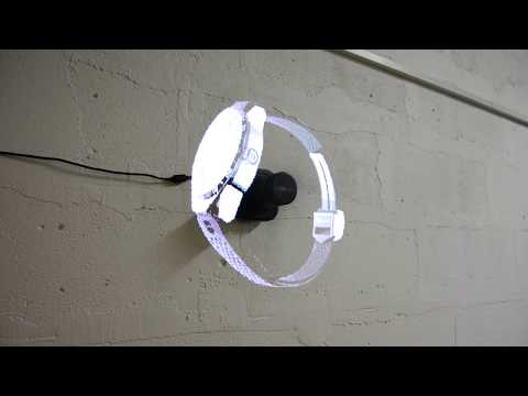 Holographic LED Fan Display