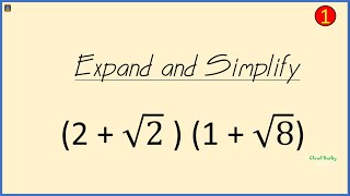 SURD: How to Simṗlify Double Brackets containing Radicals l Multiply Radicals ( Square Roots)