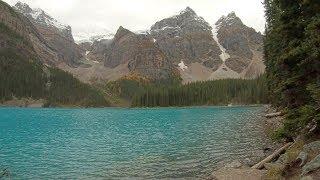 Moraine Lake Shoreline Trail, Banff, Alberta, Canada  Mountains water rocks