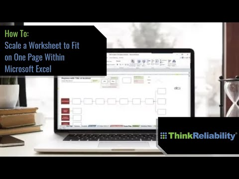 Scale An Excel Worksheet to Fit on One Page - YouTube