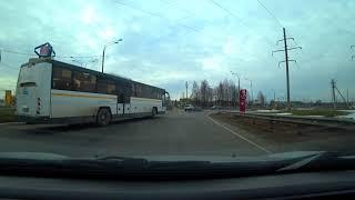 Путешествуем на автомобиле. Московская область. Дети с лыжами. Вейна. ОзернА. Город Руза. Улицы