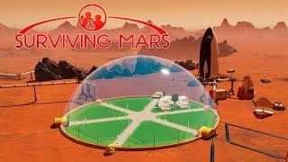 ПОДВОДИМ ВОЗДУХ И ВОДУ К ПЕРВОМУ КУПОЛУ НА МАРСЕ - Surviving Mars #2
