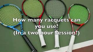 Play testing racquets: Babolat Pure Drive Tour +, Prince Phantom Pro 100P, etc