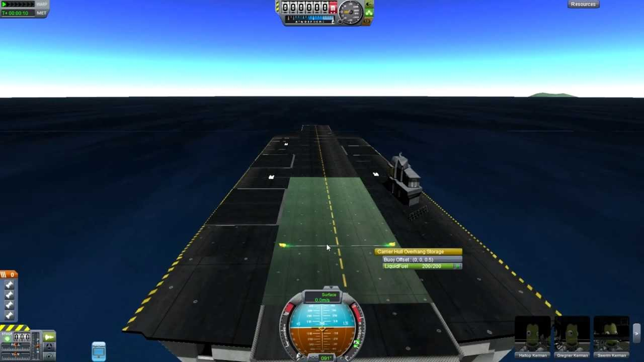 Kerbal Space Program - Carrier Mod - Landing on a Postage ...