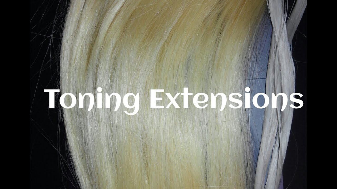 Toning Extensions From Gold Blonde To Silverwhite Youtube