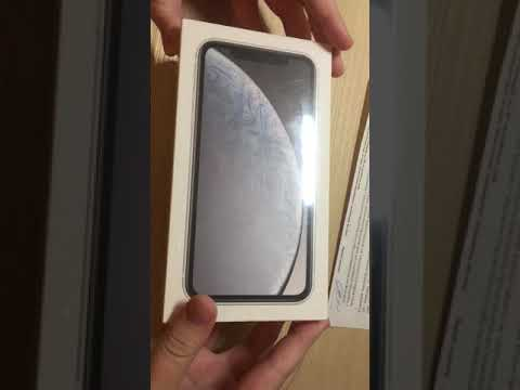 IPhone XR Распаковка