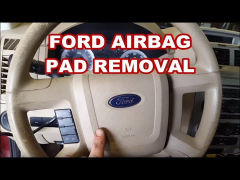 2008-2012 FORD ESCAPE How to remove airbag / Horn pad for ignition lock replacement