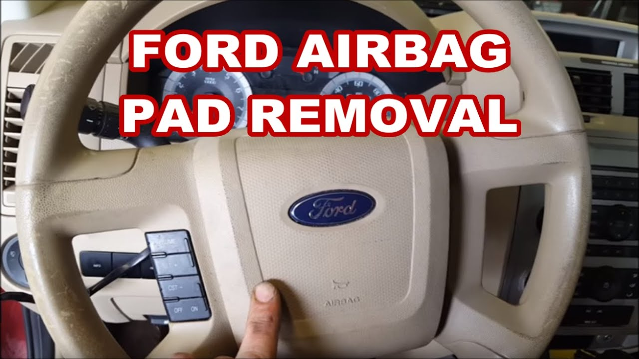 Ford Explorer Ignition Wiring Diagram 2008 2012 Ford Escape How To Remove Airbag Horn Pad For