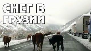 Военно-Грузинская дорога закрыта из-за непогоды