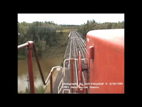 CANADIAN PACIFIC, cab ride on HERON BAY sub, 9/10/1999