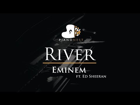 Eminem - River ft. Ed Sheeran - Piano Karaoke / Sing Along / Cover with Lyrics