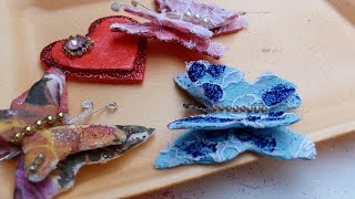 Borboletas 3D feitas com bandejinhas de isopor