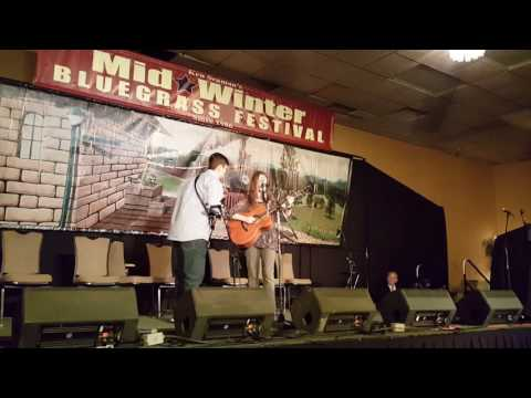 Grace Kuch and Eli Slocumb - Jim Lee Blues - Mid-Winter Bluegrass Fest