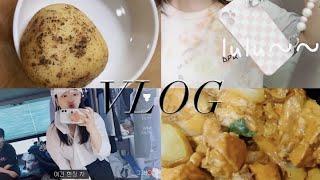 VLOG | 감자빵, 스타일리스트 어시 알바체험, 택배…